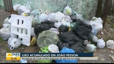 Moradores de bairro em João Pessoa reclamam de lixo acumulado por falta de coleta - Problema afeta o Costa E Silva