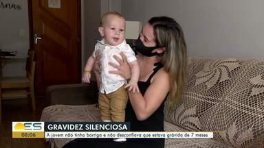 Mulher descobre gravidez aos sete meses de gestação, no ES - Médica explica o que é a gravidez silenciosa.