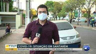 Santarém tem mais 77 novos casos confirmados da covid-19; há 6.977 pessoas recuperadas - O boletim também mostra que houve mais uma morte em decorrência do coronavírus. Somando um total de 345 óbitos.