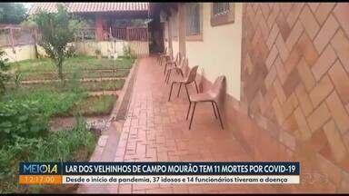 Lar dos Velhinhos de Campo Mourão tem 11 mortes por Covid-19 - Desde o início da pandemia, 37 idosos e 14 funcionários do lar tiveram a doença.