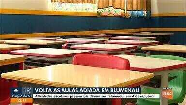 Blumenau tem aulas presenciais adiadas para outubro - Blumenau tem aulas presenciais adiadas para outubro