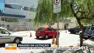 Operação do Ministério Público apura fraudes em licitações em Goiânia - Eles cumprem oito mandados de prisão.
