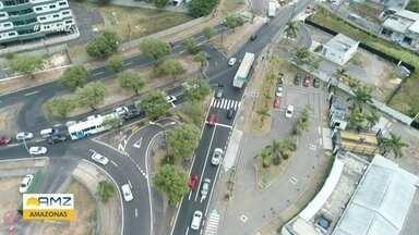 Avenida São Jorge tem trânsito alterado em Manaus - Avenida São Jorge tem trânsito alterado em Manaus