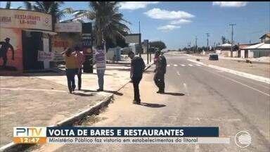 MP-PI vistoria bares e restaurantes nas praias para avaliar reabertura - MP-PI vistoria bares nas praias para avaliar reabertura
