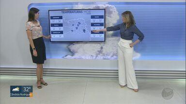 Veja a previsão do tempo para a região nesta quarta-feira (12) - Temperatura máxima de Ribeirão Preto (SP) pode chegar a 31ºC