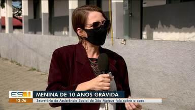 Secretária de Assistência Social de São Mateus fala sobre criança grávida no município, ES - Veja a reportagem.