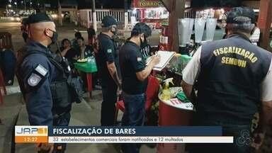 Covid-19: Prefeitura notificou 33 estabelecimentos comerciais e multou 12 em Macapá - Covid-19: Prefeitura notificou 33 estabelecimentos comerciais e multou 12 em Macapá