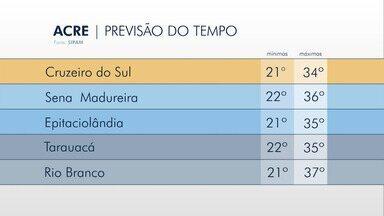 Saiba como fica a previsão do tempo para esta quarta-feira (12) no Acre - Saiba como fica a previsão do tempo para esta quarta-feira (12) no Acre