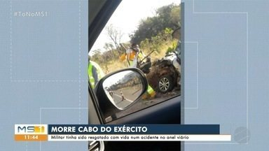 Morre cabo do Exército vítima de acidente na BR-163 em Campo Grande - Morre cabo do Exército vítima de acidente na BR-163 em Campo Grande