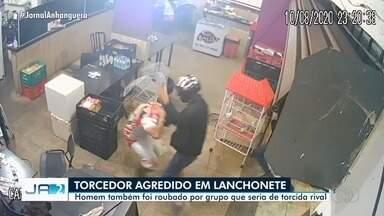 Torcedor do Vila Nova é agredido em lanchonete e tem dinheiro roubado, em Goiânia - Ele teria sido agredido por torcedores de um time rival.