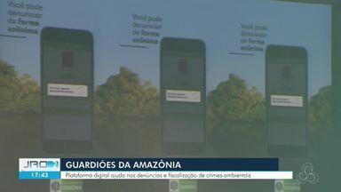 Aplicativo Guardiões da Amazônia é oficializado em RO - Plataforma digital ajuda nas denúncias e fiscalização de crimes ambientais