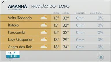 Meteorologia prevê calor nesta quinta-feira no Sul do Rio - Massa de ar seco continua impedindo a formação de nuvens de chuva na região.