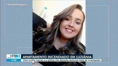 Jovem universitária é achada morta carbonizada após incêndio em apartamento de Luziânia - Segundo a polícia, vítima de 21 anos estava dentro de quarto com a porta trancada. Vizinha disse aos investigadores que ouviu um grito seguido de uma explosão.