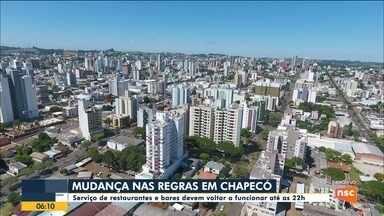 Restaurantes e bares de Chapecó devem voltar a funcionar até as 22h - Restaurantes e bares de Chapecó devem voltar a funcionar até as 22h