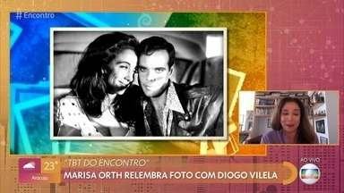 Marisa Orth volta ao passado no 'Encontro' - A atriz relembra foto com Diogo Vilela