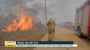 Depois do fogo, tem fumaça na MT-010 - Depois do fogo, tem fumaça na MT-010