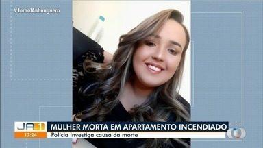 Polícia investiga caso de mulher que foi achada morta carbonizada em Luziânia - Ela estava no apartamento, que pegou fogo.