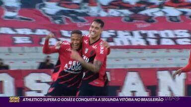 Athletico vence a segunda no Brasileirão - Diante do Goiás, Furacão tem Vitinho em noite de gala e 'lei do ex' funcionando