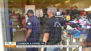 Volta Redonda reforça fiscalização em comércio e locais com aglomerações - Até julho, cerca de 70 estabelecimentos foram autuados.