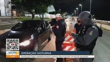 Operação aplica 1ª multa por falta de máscara e autua bares fora do horário em Macapá - Operação aplica 1ª multa por falta de máscara e autua bares fora do horário em Macapá