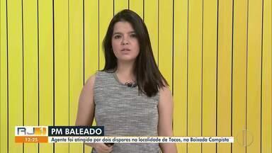 Policial Militar baleado em Campos tem quadro estável - Agente foi atingido por disparos na localidade de Tocos, Baixada Campista.
