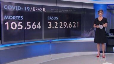 Brasil passa das 105 mil mortes por coronavírus - Nesta quinta-feira (13), o Brasil registrou 1.301 mortes, número acima do observado na quinta da semana passada.
