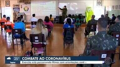 Araxá é uma das cidades que o Exército faz treinamento contra Covid-19 - Municípios do estado têm recebido auxílio no combate ao coronavírus. Ao todo, 50 profissionais da saúde e da segurança pública integram o projeto.