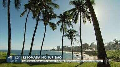 Coronavírus: agências de turismo retomam vendas de pacotes de viagens com limitações - Os destinos contam com diversas medidas de higiene e segurança para proteger a saúde dos turistas.