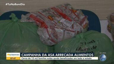 Campanha arrecada donativos no norte do estado; confira - Cerca de 12 mil famílias estão sendo beneficiadas na Bahia.