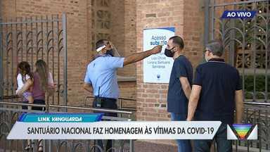 Santuário Nacional de Aparecida tem medidas para prevenção à Covid-19 - Missas com fiéis foram retomadas no fim de julho.