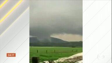 Tornados causam estragos em quatro municípios de SC; uma pessoa morreu - A Defesa Civil de Santa Catarina confirmou a morte de uma pessoa durante as tempestades que atingiram o estado no fim de semana. Em quatro municípios, os estragos foram provocados por tornados.