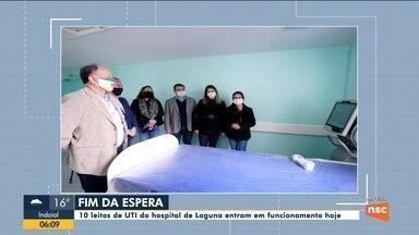Dez leitos de UTI do hospital de Laguna entram em funcionamento nesta segunda-feira - Dez leitos de UTI do hospital de Laguna entram em funcionamento nesta segunda-feira