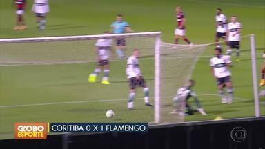 Flamengo vence a primeira no Brasileirão - Veja também os gols da Liga dos Campeões e mais uma vitória de Hamilton na Fórmula 1.