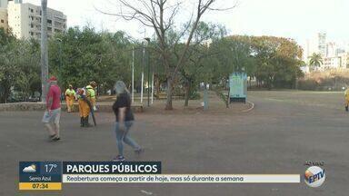 Parques reabrem depois de cinco messes em Ribeirão Preto, SP - Público poderá frequentar as áreas durante os dias da semana.