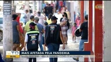 Levantamento mostra que Araguaína é o município mais afetado pela Covid-19 - Levantamento mostra que Araguaína é o município mais afetado pela Covid-19