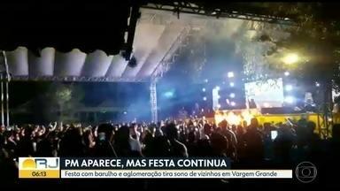 Rave em Vargem Grande tem aglomeração e tira sono dos vizinhos - Festa só acabou com a PM apareceu no local pela segunda vez.