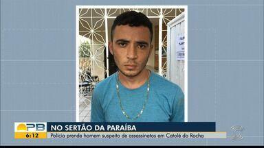 Homem é preso suspeito de praticar chacina, em Catolé do Rocha - Além dele, outras duas pessoas também foram presas por suspeita de envolvimento nos crimes