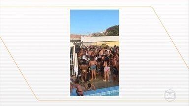 Festa clandestina lota clube de Belo Horizonte - Imagens flagraram várias pessoas sem máscara na piscina. Em outra festa proibida um adolescente de 17 anos foi baleado