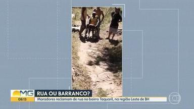 Moradores de Belo Horizonte pedem ajuda para rua - Os moradores do Taquaril, região Leste da capital, esperam há anos por melhorias.