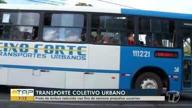 Frota de ônibus reduzida nos fins de semana em Santarém prejudica a população - Usuários reclamam de tempo de espera em pontos de ônibus.