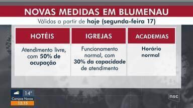 Regras mais flexíveis em Blumenau valem a partir desta segunda-feira - Regras mais flexíveis em Blumenau valem a partir desta segunda-feira