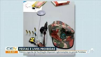 Polícia dispersa festas e aglomeração durante final de semana em Fortaleza - Saiba mais em g1.com.br/ce