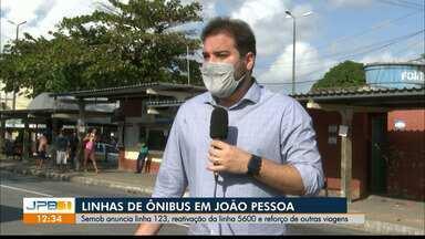 João Pessoa tem nova linha de ônibus e reforço em outras, a partir desta segunda (17) - Nova linha 123 irá fazer itinerário Colinas do Sul/Centro.
