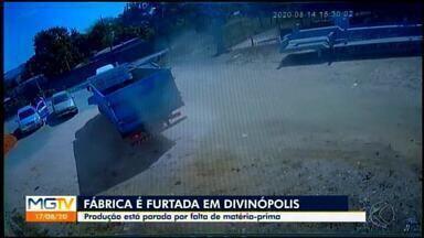 Empresa de fabricação de panelas é furtada em Divinópolis; veja imagens - Produção está parada por falta de matéria-prima.