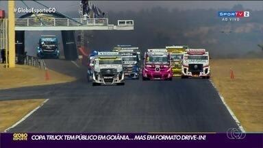 Copa Truck recebe público de jeito diferente em Goiânia - Pessoas assistiram a corrida de dentro do carro