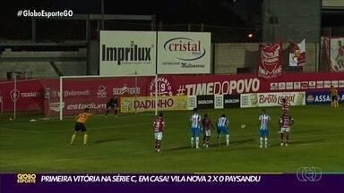 Em casa, Vila Nova vence Paysandu e consegue primeira vitória pela Série C - Tigre aplicou um placar de 2 a 0 no time do Pará.