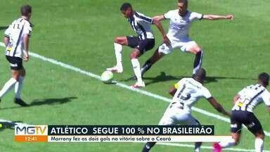 Galo vence o Ceará em casa e é o atual líder da Série A - Marrony foi o autor dos dois gols.