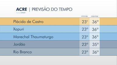 Saiba como fica a previsão do tempo para esta segunda-feira (17) no Acre - Saiba como fica a previsão do tempo para esta segunda-feira (17) no Acre
