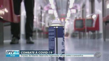 Empresa de Ribeirão Preto desenvolve higienizador eficaz contra o coronavírus - Testado em trens e metrôs da capital, produto recebeu as certificações necessárias e está pronto para ser usado.