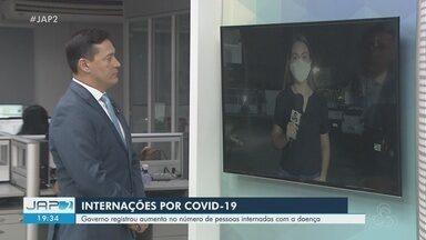 Amapá volta a registrar aumento na ocupação de leitos de UTI destinados à Covid-19 - Governo do estado apresentou dados que mostram alta na procura nos centros Covid, mesmo com casos de infecção e morte caindo.